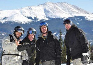 Usually I snow board with the family but occasionally I get out with they guys to Breckenridge.
