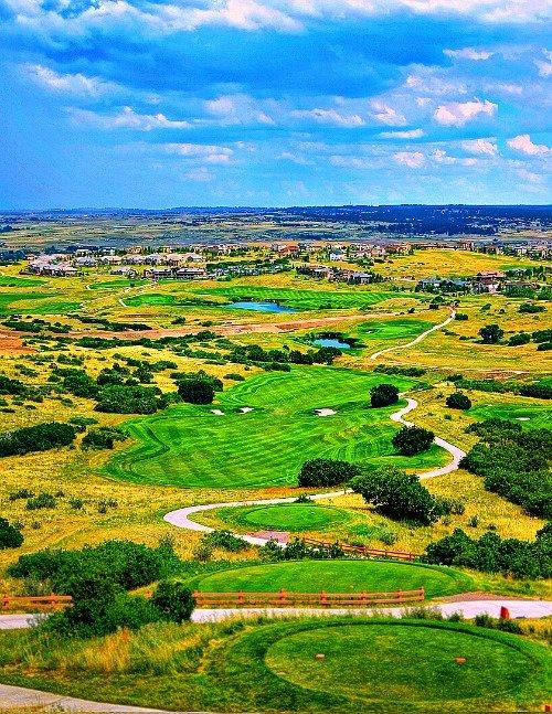 Praedera Golf Club offers suburban living in Parker.