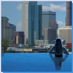 Pool Overlooks Downtown Denver