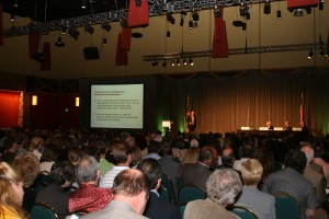 Over 1000 heard good news about the Denver Real Estate Market at The Kentwood Company Forum.