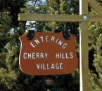 Entering Cherry Hills Village Sign