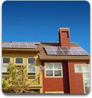 Even town homes can have solar panels added.