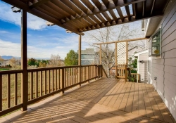 Expansive deck with foothill views