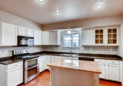 Remodeled designer kitchen