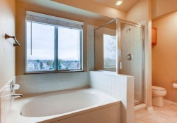 Convenient master bedroom bath