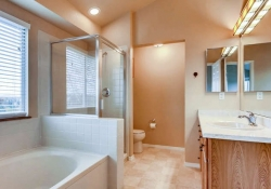 Notice the upgrades and extras in this stunning master bathroom