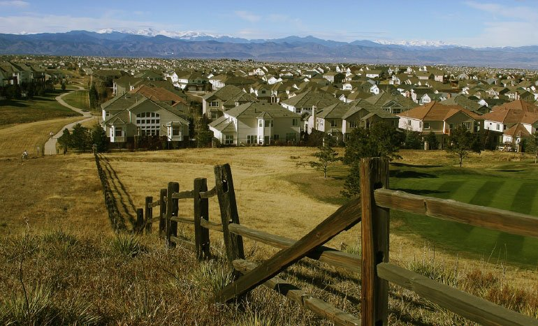 Bluffs Regional Park above Lone Tree overlooks  theCarriage Club neighborhood among others.