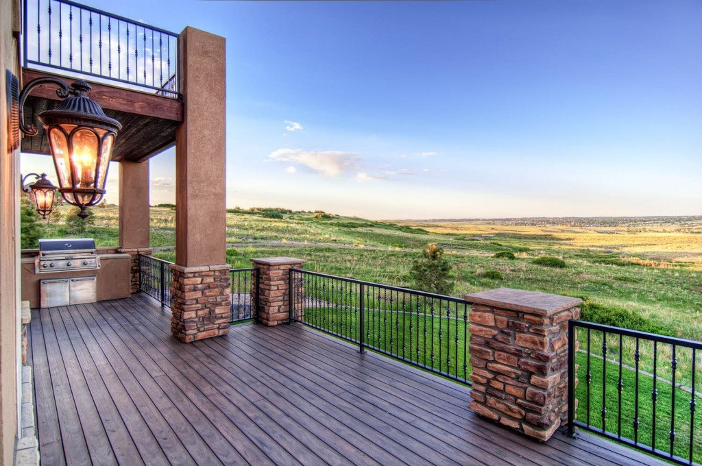 Luxury custom home deck