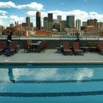 View from the Glasss House rooftop pool in Riverfront Park. (Photo: Denver Post)