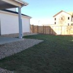Back yard of new home