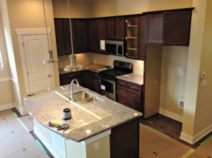 Kitchen is being finished at this Stapleton new home.