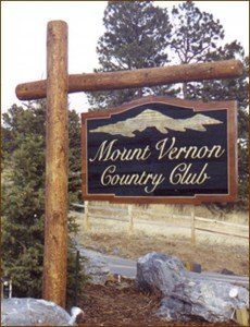 Evergreen Sign Company made this sign for Mount Vernon Country Club.