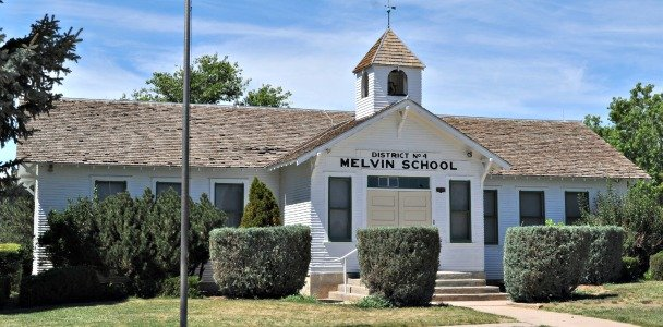 The Melvin School is one of many historical landmarks in Aurora, Colorado