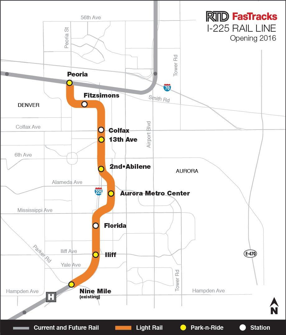 The new, Aurora light rail will serve Bandy Chase Condos.