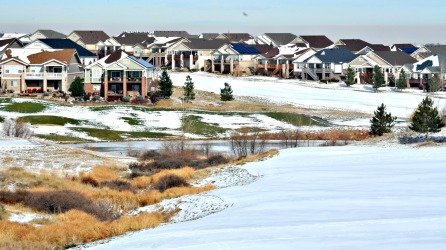 Patio homes, cluster hoes and town-homes surround the semi-private Heritage Eagle Bend golf course.