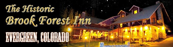 One of the amenities of living in or near Evergreen, Colorado is the Brook Forest Inn.