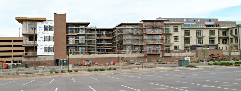 Although the averge rent for an apartment in all of metro Denver is $1158 per month, new luxury apartments go for $1800-$3000 per month. That's especially true for those located downtown or near the Light rail stations.