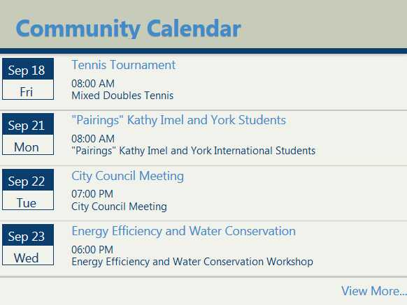 Thornton Community Calendar