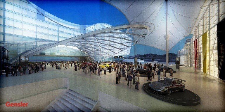 The new Trasit Center at Denver International Airport will add light rail to the travel options.