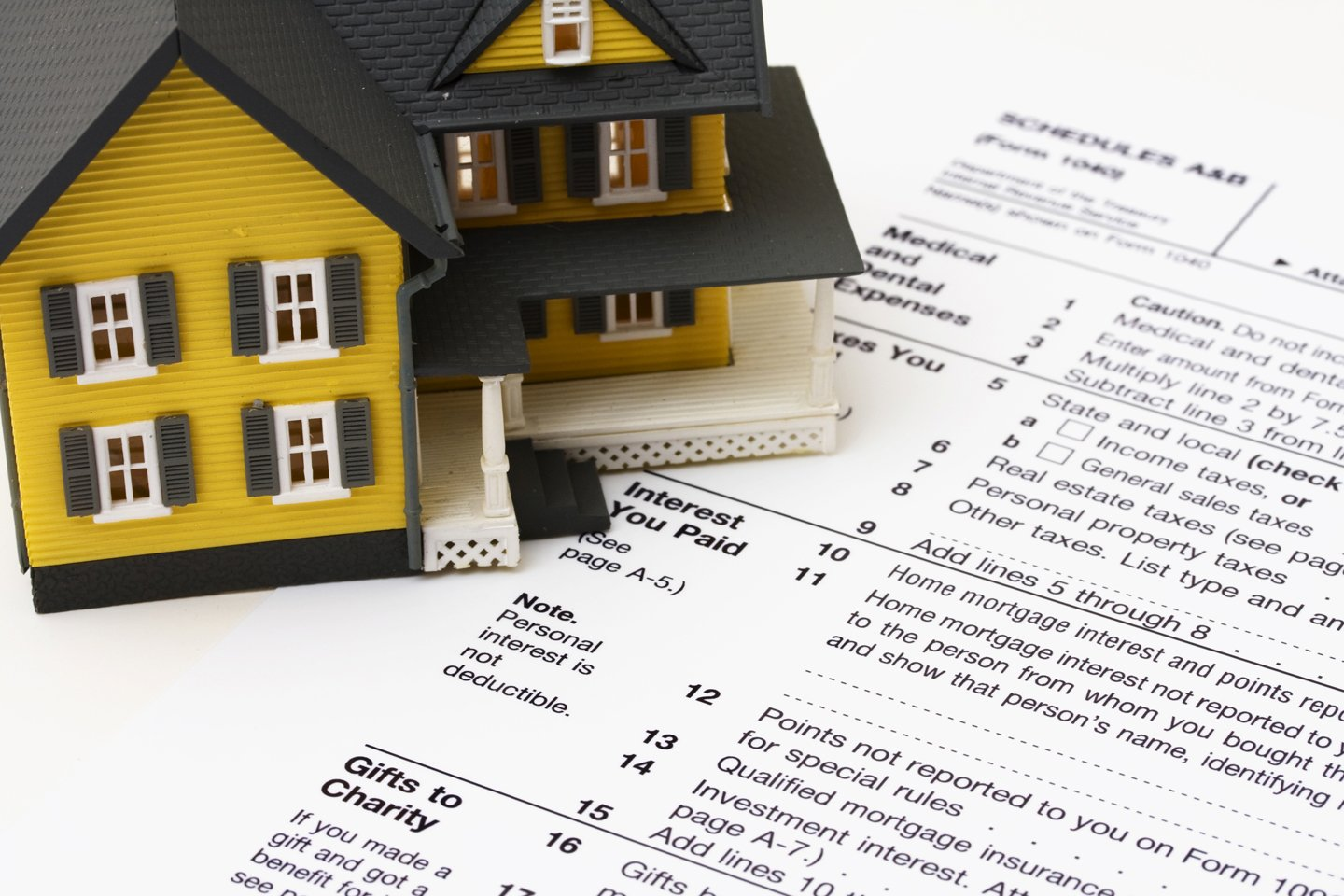 House on tax form schedule A