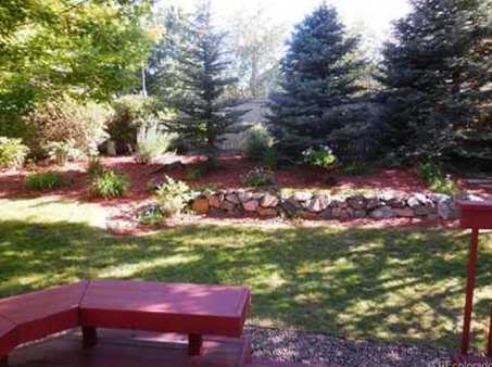"""The Rees"""" ended up in Highlands Ranch. Here's the view of their yard."""