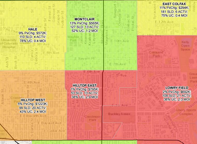 Denver Hilltop Home Price Appreciation