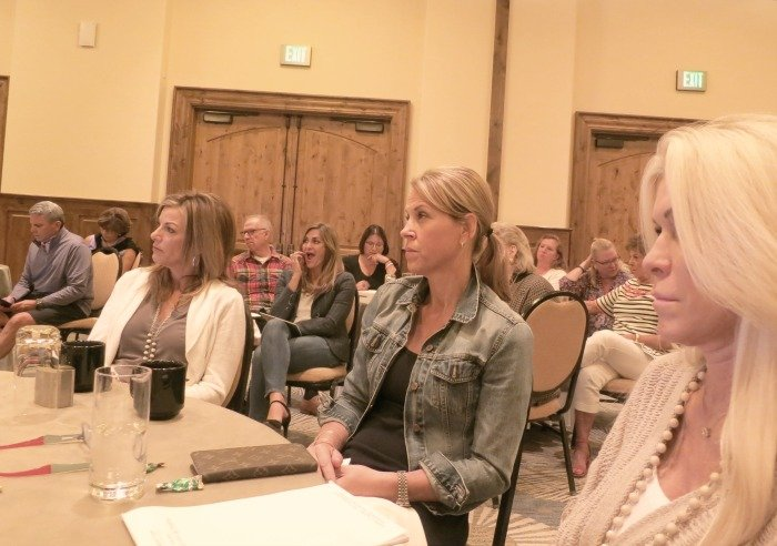 Kentwood real estate brokers listen to Peter Elzi at the Kentwood Retreat.