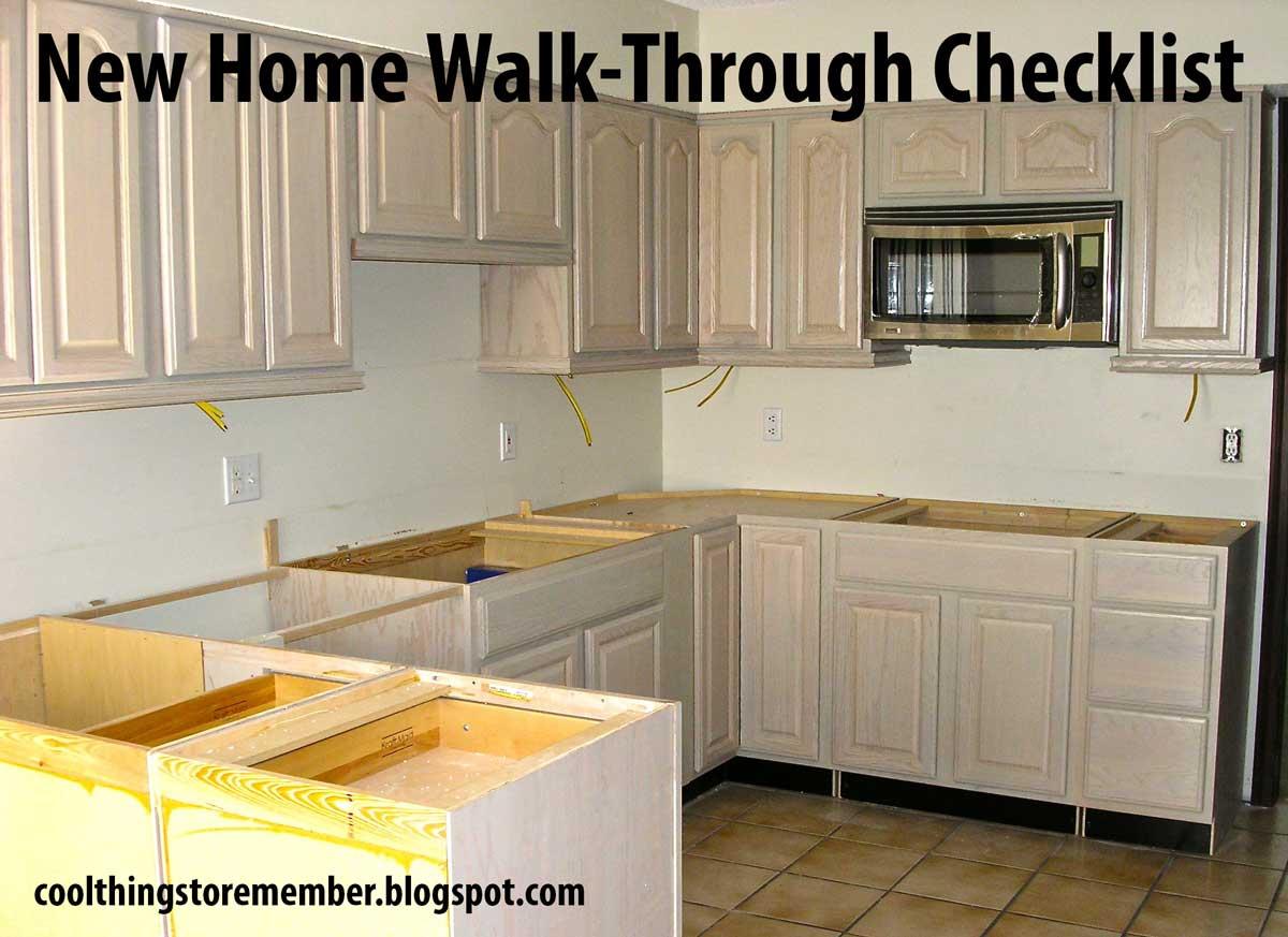 new construction walk through checklist pdf