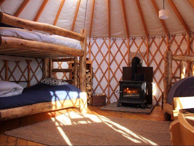Glamping in yurts