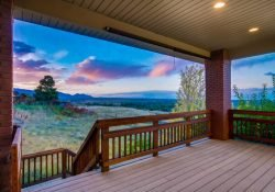 views from this Golden, Colorado custom ranch