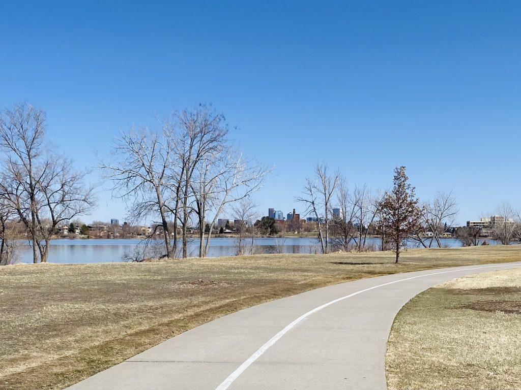 Sloan's Lake real estate surrounds a large lake inside the Denver city limits